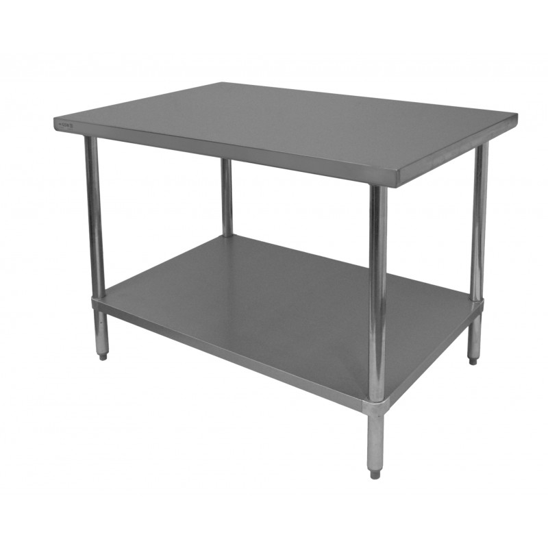 Commercial Work Table Stainless Steel Top Galvanized