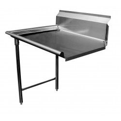 Dish Tables GSW - Stainless steel table with lip