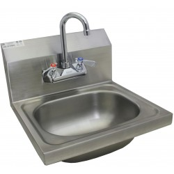Stainless Steel Wall Mount Hand Sink w/ No Lead Faucet and Strainer