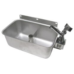 Table Mount Dipperwell Sink with Faucet