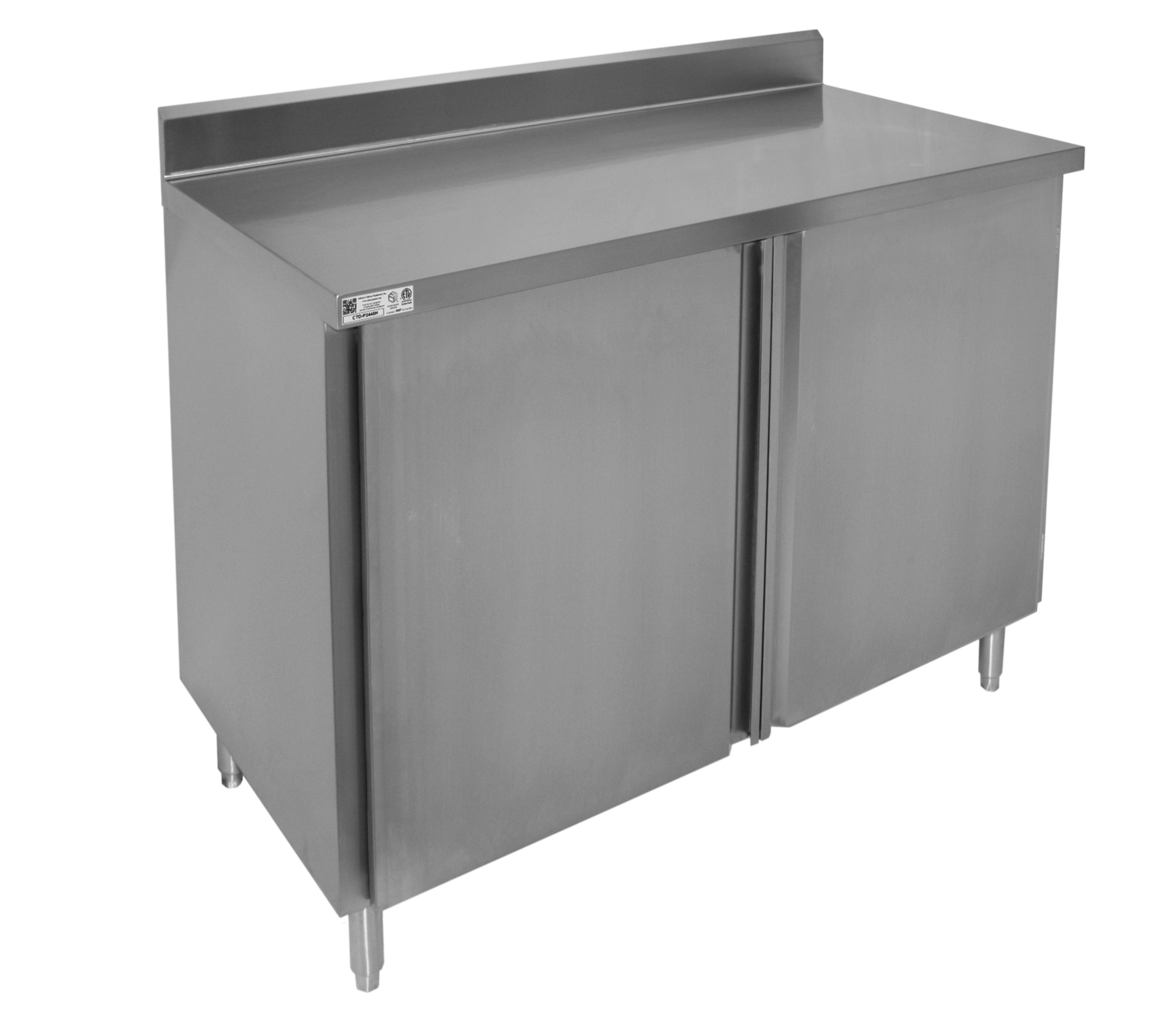 4 Rear Upturn Enclosed Work Table Hinged Doors