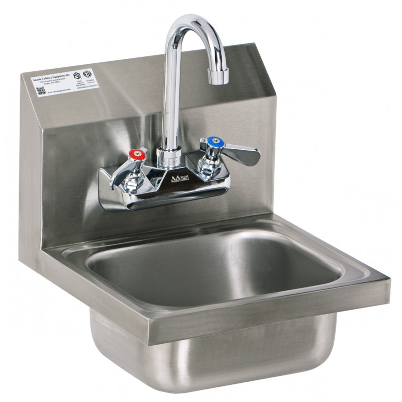 industrial bathroom sink stainless steel wall mount sink with no lead faucet 13232